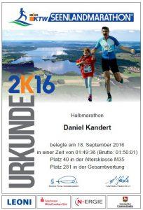 Urkunde Seenlandmarathon2016